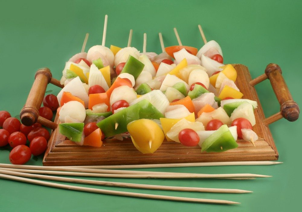 Sweet 'N Sour No-Cook Ham Kabobs