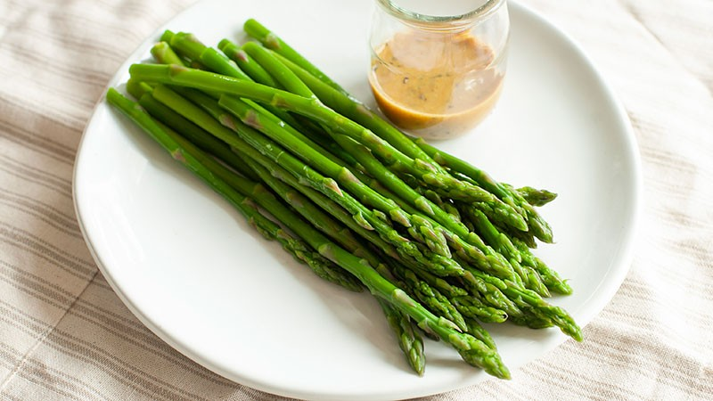 Asparagus with Mustard Vinaigrette