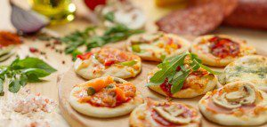 Mini Microwave Appetizer Pizzas