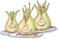 Oven-poached pears