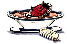 Cool strawberry soup