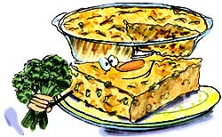 Baked cheesy vegetable pie