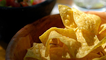 Baked lime chili corn tortilla chips