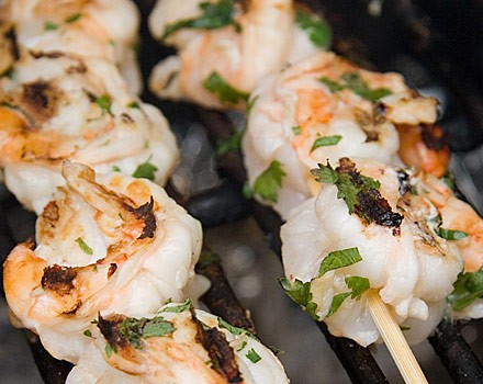 Basil grilled shrimp