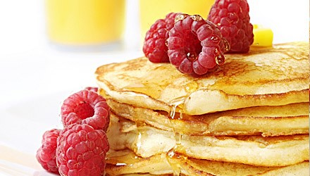 Buttermilk Oatmeal Raspberry Pancakes