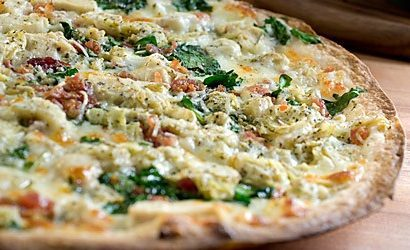 Chicken Florentine Pizza for Diabetics