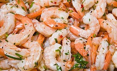 Chilled marinated shrimp