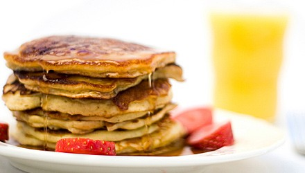 Golden multigrain pancakes
