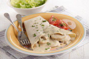 Saucy Turkey Crepes