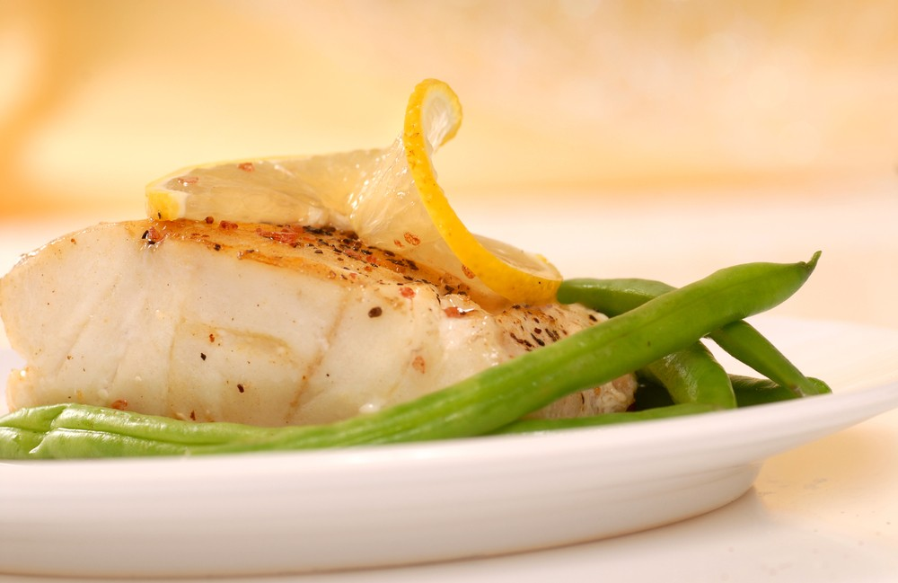 Lemon Cod with Mashed Potatoes