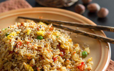 """Fried"" Brown Rice"