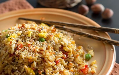 Fried Brown Rice for Diabetics