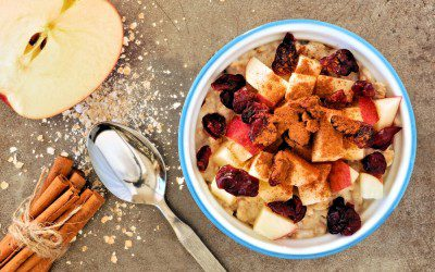 Hearty Apple-Cranberry Oatmeal