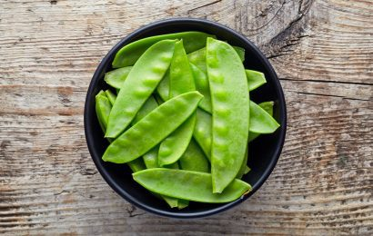 Gingered Snow Peas