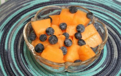 Cantaloupe-Berry Salad with Mint-Yogurt Dressing