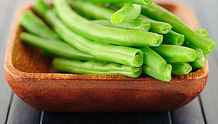 Green beans with apple cider dressing