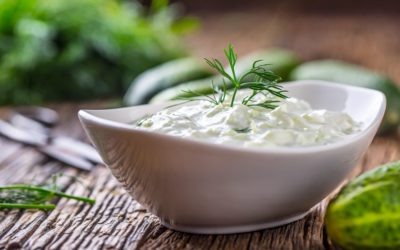 Cucumber with Yogurt Sauce