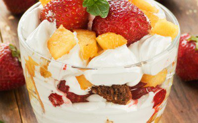 Personal Peach-Berry Parfait