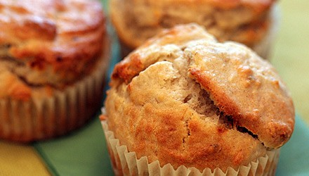 Apple-raisin buckwheat muffins