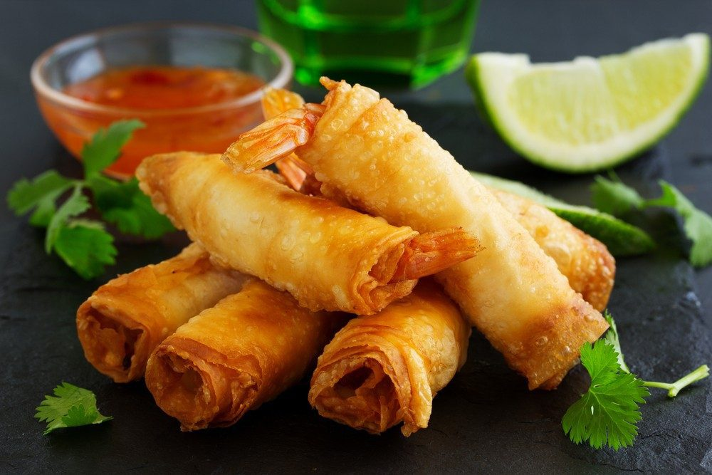 Shrimp Spring Rolls with Tangy Citrus Sauce
