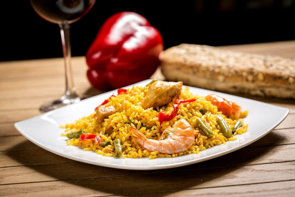 Spanish Paella with Shrimp and Scallops
