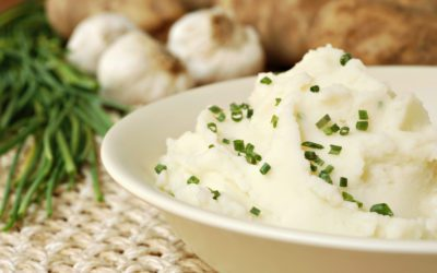 Garlic Chive Mashed Potatoes