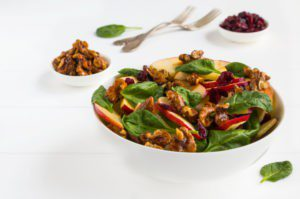 Winter Fruit and Spinach Salad