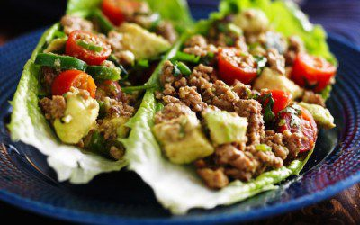 Turkey Lettuce Wraps for Diabetics