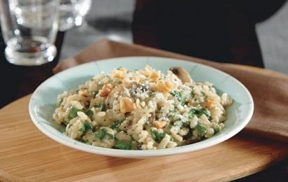 Spinach and Mushroom Risotto