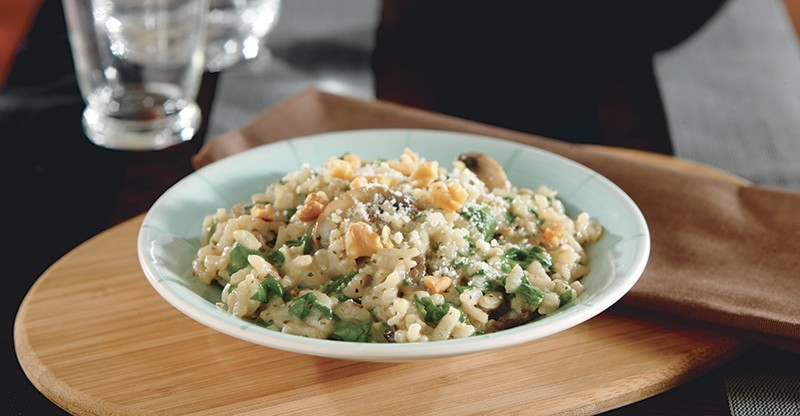 Spinach and Mushroom Risotto for Diabetics