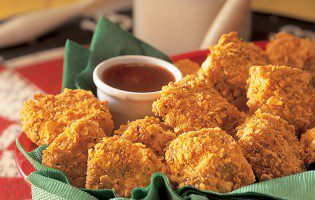 Chicken Nuggets with Barbecue Dipping Sauce