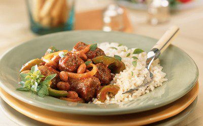 Italian-Style Sausage with Rice