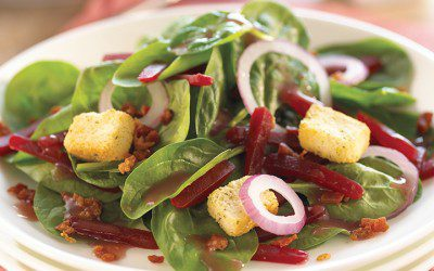 Spinach Salad with Beets
