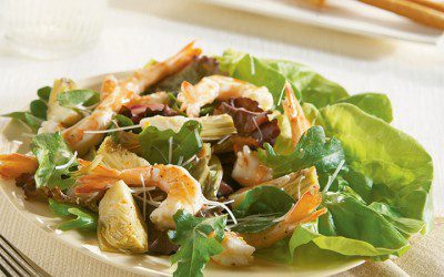 Warm Shrimp, Artichoke, and Parmesan Salad