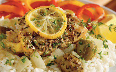 Provençal Lemon and Olive Chicken