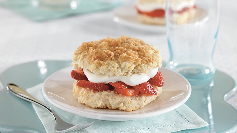 Brown Sugar Strawberry Shortcakes