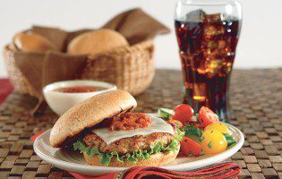 Grilled Salsa Turkey Burger