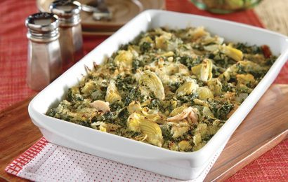 Chicken with Spinach and Artichokes