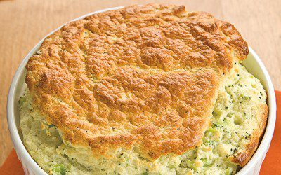 Garlic & Herb Broccoli Soufflé