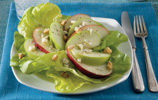 Apple-Walnut Salad with Blue Cheese-Honey Vinaigrette