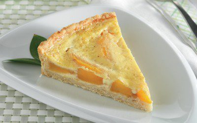 Custard Peach Tart