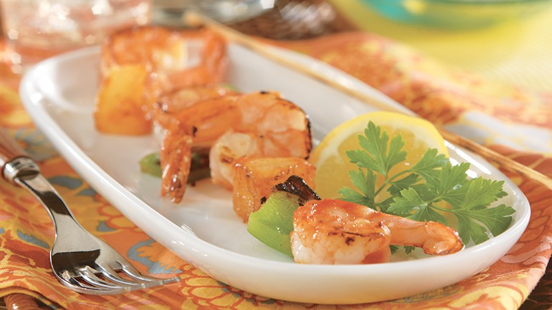 Shrimp and Pineapple Kabobs