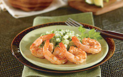 Hot Shrimp with Cool Salsa