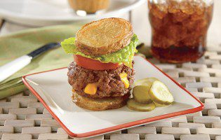 Cheddar Stuffed Beef Burger