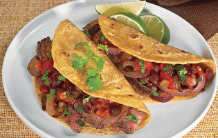 Grilled Steak and Black Bean Tacos