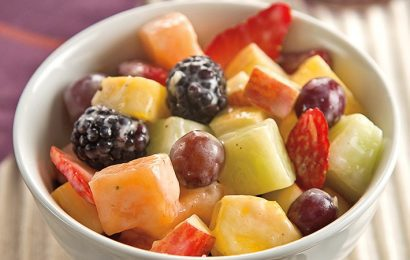 Fruit Salad with Creamy Banana Dressing