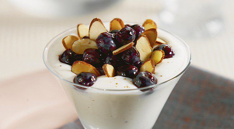 "Yogurt ""Custard"" with Blueberries"