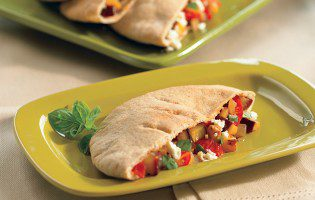 Eggplant and Feta Stuffed Pitas