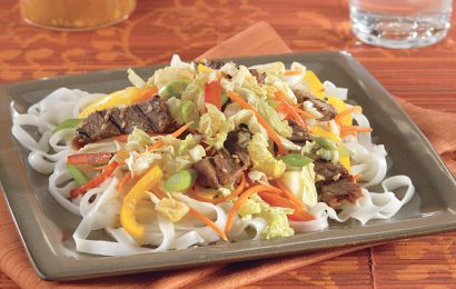 Korean-Style Beef and Pasta
