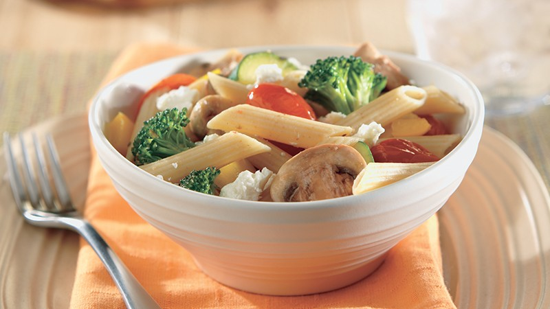 Whole Wheat Penne Pasta with Summer Vegetables